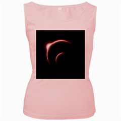 Planet Space Abstract Women s Pink Tank Top