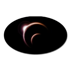 Planet Space Abstract Oval Magnet