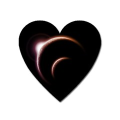 Planet Space Abstract Heart Magnet