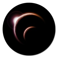Planet Space Abstract Magnet 5  (round)