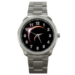Planet Space Abstract Sport Metal Watch