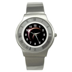 Planet Space Abstract Stainless Steel Watch