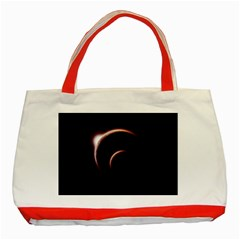 Planet Space Abstract Classic Tote Bag (red)