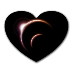 Planet Space Abstract Heart Mousepads