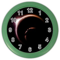 Planet Space Abstract Color Wall Clocks
