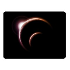 Planet Space Abstract Fleece Blanket (small)