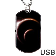 Planet Space Abstract Dog Tag Usb Flash (one Side)