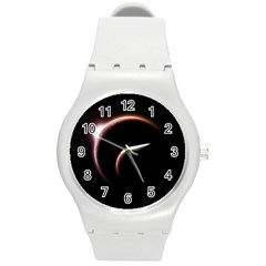 Planet Space Abstract Round Plastic Sport Watch (M)