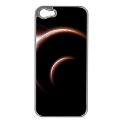 Planet Space Abstract Apple Iphone 5 Case (silver)