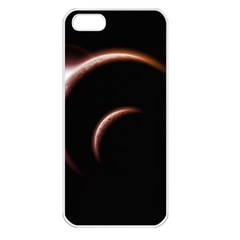 Planet Space Abstract Apple iPhone 5 Seamless Case (White)
