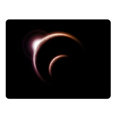Planet Space Abstract Double Sided Fleece Blanket (Small)