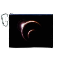 Planet Space Abstract Canvas Cosmetic Bag (xl)