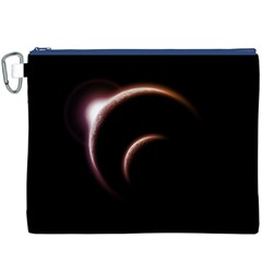 Planet Space Abstract Canvas Cosmetic Bag (xxxl)