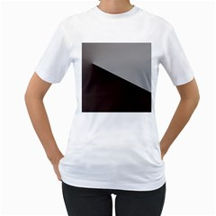 Course Gradient Color Pattern Women s T Shirt (white) (two Sided)