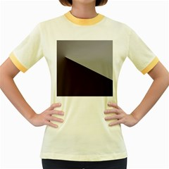Course Gradient Color Pattern Women s Fitted Ringer T Shirts