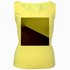 Course Gradient Color Pattern Women s Yellow Tank Top