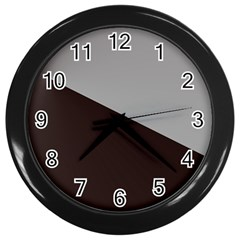 Course Gradient Color Pattern Wall Clocks (Black)