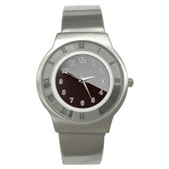 Course Gradient Color Pattern Stainless Steel Watch