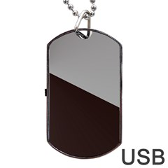 Course Gradient Color Pattern Dog Tag USB Flash (Two Sides)