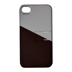 Course Gradient Color Pattern Apple Iphone 4/4s Hardshell Case With Stand