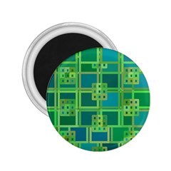 Green Abstract Geometric 2.25  Magnets