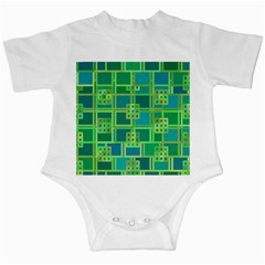 Green Abstract Geometric Infant Creepers