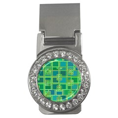 Green Abstract Geometric Money Clips (cz)