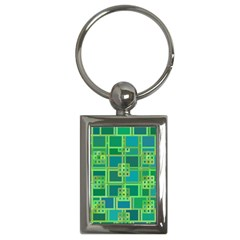 Green Abstract Geometric Key Chains (Rectangle)