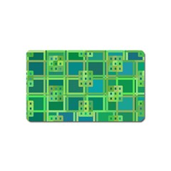 Green Abstract Geometric Magnet (name Card)