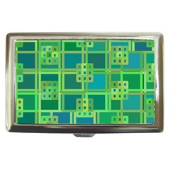 Green Abstract Geometric Cigarette Money Cases