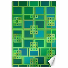 Green Abstract Geometric Canvas 20  x 30
