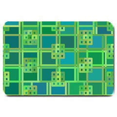 Green Abstract Geometric Large Doormat