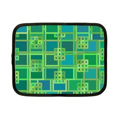 Green Abstract Geometric Netbook Case (Small)