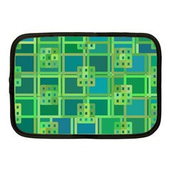 Green Abstract Geometric Netbook Case (Medium)