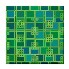 Green Abstract Geometric Face Towel
