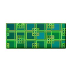 Green Abstract Geometric Cosmetic Storage Cases