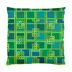 Green Abstract Geometric Standard Cushion Case (two Sides)