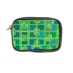 Green Abstract Geometric Coin Purse