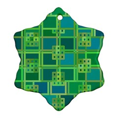 Green Abstract Geometric Ornament (Snowflake)