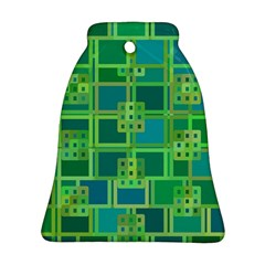 Green Abstract Geometric Ornament (Bell)