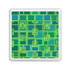 Green Abstract Geometric Memory Card Reader (square)