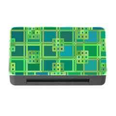 Green Abstract Geometric Memory Card Reader With Cf