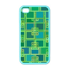 Green Abstract Geometric Apple iPhone 4 Case (Color)