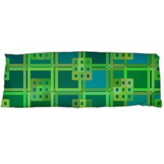 Green Abstract Geometric Body Pillow Case Dakimakura (two Sides)