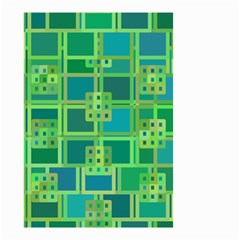 Green Abstract Geometric Small Garden Flag (two Sides)