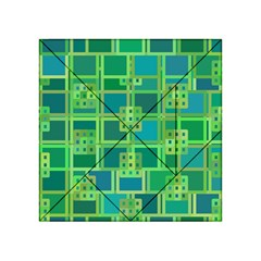 Green Abstract Geometric Acrylic Tangram Puzzle (4  X 4 )
