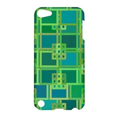 Green Abstract Geometric Apple Ipod Touch 5 Hardshell Case