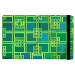 Green Abstract Geometric Apple Ipad 2 Flip Case