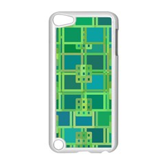 Green Abstract Geometric Apple Ipod Touch 5 Case (white)