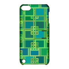 Green Abstract Geometric Apple Ipod Touch 5 Hardshell Case With Stand